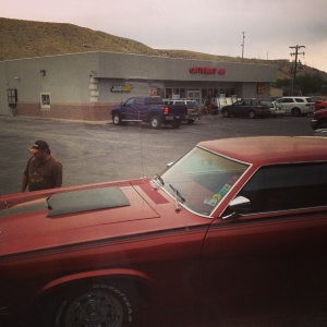 Used car near Laramie, Wyoming - July 4, 2013