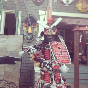 Samurai sculpture in Berkeley, California - June 23, 2013
